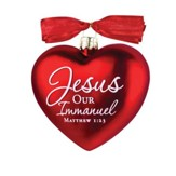 Jesus, Our Immanuel, Heart of Christmas Ornament
