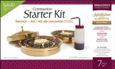 RemembranceWare ® Communion Starter Kit, Brass