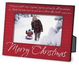 Merry Christmas Red Metal Photo Frame