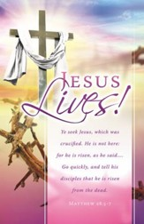Jesus Lives! (Matthew 28:5-7) Bulletins, 100