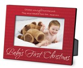Baby's First Christmas Red Metal Photo Frame