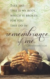 Remembrance of Me (1 Corinthians 11:24) Bulletins, 100