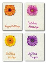 Birthday Blossoms (NIV) Box of 12 Assorted Birthday Cards