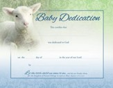 Lamb (Matthew 19:14, NIV) Baby Dedication Certificates, 6