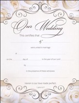 Our Wedding (1 John 4:17) Wedding Certificates, 6