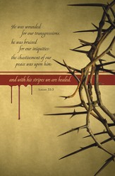 Crown of Thorns (Isaiah 53:5) Bulletins, 100