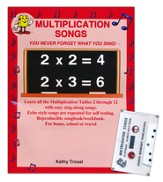 Audio Memory Multiplication Songs Cassette Tape and Workbook Kit