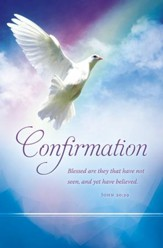 Confirmation Dove (John 20:29) Bulletins, 100