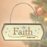 Faith, Christmas Plaque Ornament