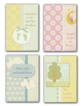 God's Little Miracles (NLT) Box of 12 Assorted Baby Congratulations Cards