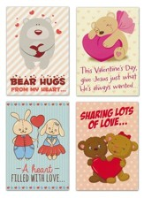 Hugs and Love Kids (NIV) Box of 12 Assorted Valentine's Day Cards