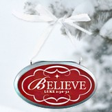 Believe Oval Christmas Plaque Ornament