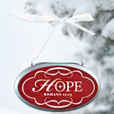 Hope Oval Christmas Plaque Ornament