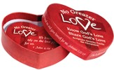 No Greater Love Heart-Shaped Box with 30 Scripture Cards