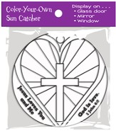 Color-Your-Own Heart Suncatcher Activity 1 John 4:8 (KJV)