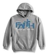 Faith Is Trusting, Gray Hooded Sweatshirt, XX-Large (50-52)