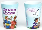 Jesus Lives! Let's Celebrate! Plastic Tumbler
