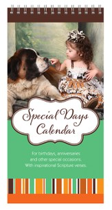 Girl and Dog Special Days Calendar
