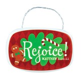 Rejoice Plaque Ornament