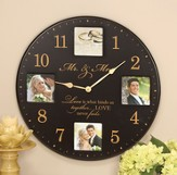 Mr. and Mrs. Love Is What Binds Us Clock