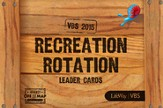 Journey Off the Map VBS 2015: Recreation Rotation Leader Cards