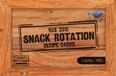 Journey Off the Map VBS 2015: Snack Rotation Recipe Cards