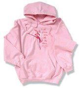 Praise Him With Dance, Pink Hooded Sweatshirt, Large (42-44)