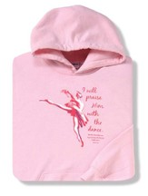Praise Him With Dance, Pink Hooded Sweatshirt,  Youth Large