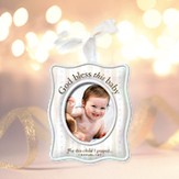 For This Child I Prayed Ceramic Photo Ornament