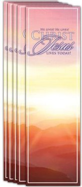 Easter Sunrise. He Lives, He Lives, Christ Jesus Live today, Pack of 25 Bookmarks