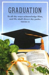 Graduation Bulletin (Proverbs 3:5, 6) Bulletin, 100