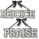 Hanging Word Art Set, Praise & Rejoice
