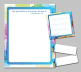 Exclamations of Thanks Notepad and Sticky Notes