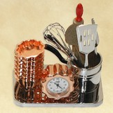 Kitchen Tools Desk Clock, Psalm 16:11