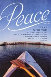 Peace I Leave With You (John 14:27, KJV) Funeral Bulletins, 100