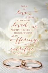 Walk in Love (Ephesians 5:2, KJV) Wedding Bulletins, 100