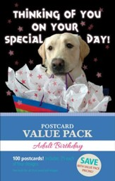 Happy Birthday Adult Value Pack Postcards, 100