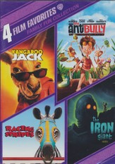 Kangaroo Jack/The Ant Bully/Racing Stripes/The Iron Giant,  Multi Feature DVD