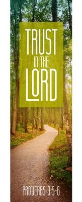 Trust In The Lord (Proverbs 3:5-6, KJV) Bookmarks, 25