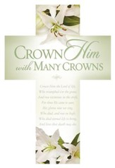 Crown Him With Many Crowns Cross Design Bookmarks, 25
