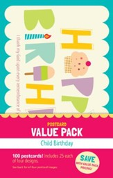 Happy Birthday Child Value Pack Postcards, 100