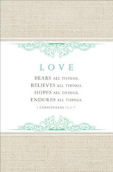 Love Bears All Things (1 Corinthians 13:4-7, NKJV) Wedding Bulletins, 100
