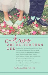 Two Are Better Than One (Ecclesiastes 4:9-12, KJV) Wedding Bulletins, 100