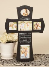 Our Family Rules Photo Cross