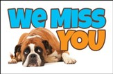 Dejected Dog (1 Thessalonians 1:2) Missed You Postcards, 25