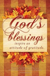 God's Blessings (Deuteronomy 16:15, NIV) Bulletins, 100