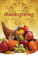 Offer Unto God Thanksgiving (Psalm 50:14) Bulletins, 100
