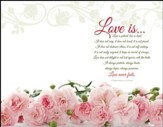 Love Is . . . (1 Corinthians 13:4-8, NIV) Full Wrap Design Bulletins, 100