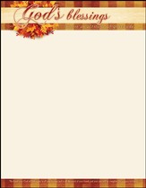 God's Blessings (Deuteronomy 16:15, NIV) Letterhead, 100
