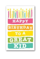 To a Great Kid (Philippians 4:4) Birthday Postcards, 25